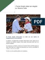 11.08.17 Candidato de Frente Amplio debe ser elegido por ciudadanos
