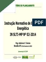Instrucao Normativa de Eficiencia Energetica No 02 2014