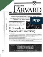 El Caso de La Decisión de Downsizing