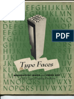 Atf Type Faces Descriptive Index and Price List TY