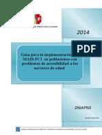 Guía para la implementación del MAIS-FCI  en PPASS  sep 2014
