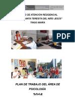 Plan de Trabajo Area de Psicología