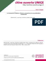 Bronckart & Plazaola- Transposición Didáctica