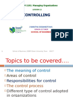 Session 12. Controlling. PGD. SOB. September 2017