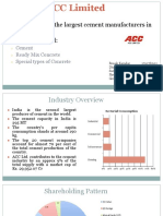 ACC ltd. Annual Report analysis