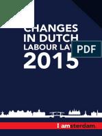 Changes Dutch Labour Law 2015