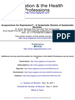 Acupuncture for Depression-Systematic Review