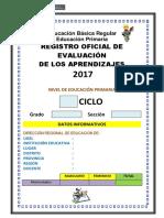 registro auxiliar de evaluacion 2017