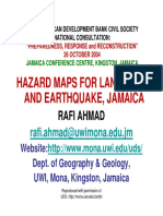 Ahmad - 2004 - Hazard Maps for Landslide and Earthquake , Jamaica