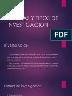 Formas y Tipos de Investigacion