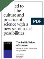 Public Value of Science