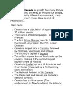 Canada General Information