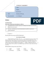 Students Worksheet 1.2 and 3