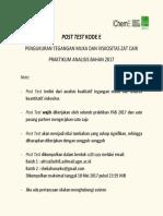 Post Test Kode e Pab 2017