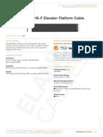 Elevator Flatform Cable h05vvh6 f 2