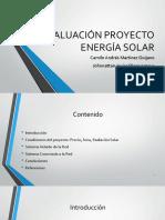 Evaluación Proyecto Energía Solar