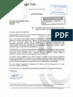 Carta notarial de Megabus
