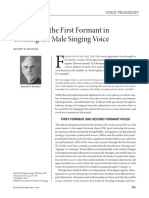The Role of the First Formant in the Male Singing Voice