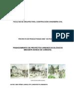 FINANCIAMIENTO DE PROYECTOS URBANOS ECOLOGICOS