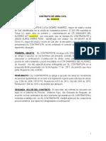 Contrato Obra Civil Vitrialum Del Valle Con Cotizacion