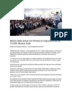 02.09.17 México debe actuar con firmeza en negociaciones del TLCAN