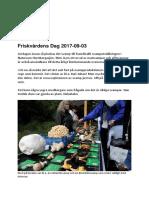 Rapport 2017-09-03 Friskvården Dag
