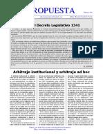 Opinion a Decreto Legislativo 1341 - Modificacion de La Ley de Contrataciones