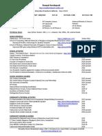 resume september 2017