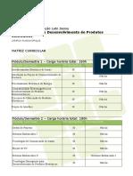 Matriz Curricular Guia Cursos 2015 Especializacao Em Desenvolvimento de Produtos Eletronicos