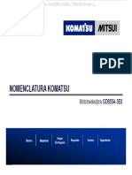 Material Nomenclatura Motoniveladoras Gd655a 3e0 Komatsu Motor Mitsui Significado Numeros Letras Modelos