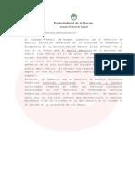 COMUNICADO RESULTADO DE ADN SOBRE DESAPARICION DE MALDONADO