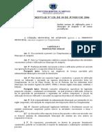 Lei Complementar 120 - Norma de Edificação Anápolis