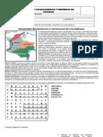 GUÍA TALLER DE SOCIALES 4° - Regiones de Colombia Docente