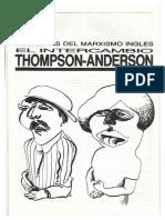 Sazbon Dos Caras Del Marxismo Ingles Acerca Del Debate Thompson Anderson