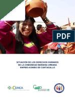 Situación de los derechos humanos de la comunidad Indígena urbana Shipibo-Konibo de Cantagallo