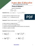 Prova a Calculo Diferencial Resolvida
