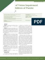 Prevalence of Vision Impairment in School Children , Peru