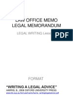 Legal Writing Lesson 9 Law Office Memo