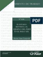 El Estado Rentista. El Ejemplo Del Perú en El Siglo Xix 1