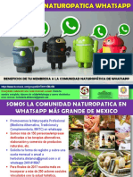 Naturopatia Grupos Whatsapp Beneficios Membresia 2017