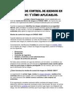 5 Niveles de Control de Riesgos en OHSAS 18001 y Cómo Aplicarlos