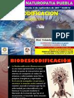 BIODESCODIFICACION PARA LA AUTOSANACION. CONFERENCIA. INFORMACION BASICA. CASANAT PUEBLA
