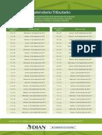 Calendario-tributario Declaracion de Renta 2.017 PN
