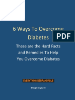 6 Ways To Overcome Diabetes