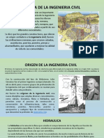 Historia de La Ingenieria Civil y La Hidraulica
