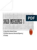 Solid Mechanics ME 212 - Week 5