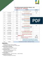 Calendário TCC