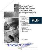 Clear and Foster Creek Fish Passage Assessment and Prioritization Project