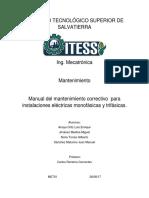 Mantenimiento Correctivo Pra Instalaciones Electricas INSTITUTO TECNOLÓGICO SUPERIOR de SALVATIERR1