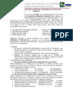 Acta de Conformacion de CSST
